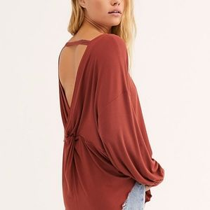 FREE PEOPLE Shimmy Shake Open Back Top